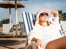 Young woman enjoying sun Royalty Free Stock Image