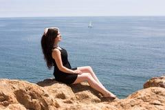 Young woman enjoying the sun Royalty Free Stock Photos
