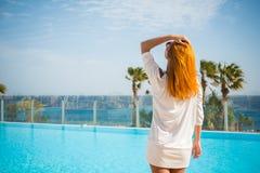 Young woman enjoying sun Royalty Free Stock Photography