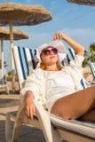 Young woman enjoying sun Royalty Free Stock Images