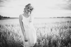 Young woman enjoying sunlight Royalty Free Stock Photos