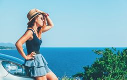 Free Young Woman Enjoying The View Royalty Free Stock Images - 108514129