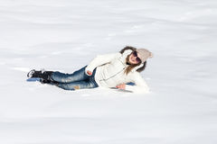 Young woman enjoying winter Stock Photo