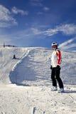 Young woman enjoying winter sports Royalty Free Stock Photos