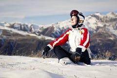 Young woman enjoying winter sports Royalty Free Stock Image
