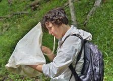 Young woman entomologist 9 Royalty Free Stock Photos