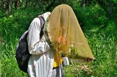 Young woman entomologist 13 Stock Photo