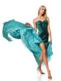 Young Woman in Evening Gown Royalty Free Stock Images
