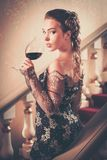 Young woman in evening dress Stock Photography