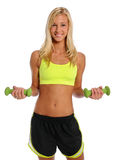 Young Woman Excercising With Dumbbells Stock Images