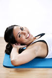 Young woman exercise Stock Image