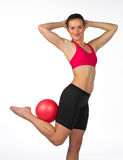 Young woman exercise Royalty Free Stock Image