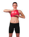 Young woman exercise Royalty Free Stock Photos