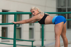 Young Woman Exercise Fitness Sport And Strech Stock Image
