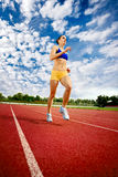 Young Woman Exercise Jogging And Running Stock Photo