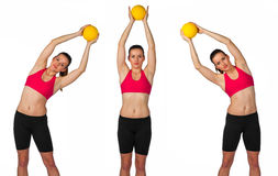 Young woman exercise routine Royalty Free Stock Photo