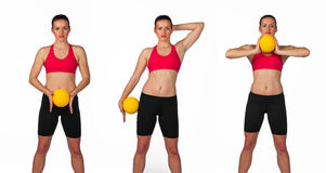 Young woman exercise routine Royalty Free Stock Images