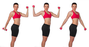 Young woman exercise routine Stock Images