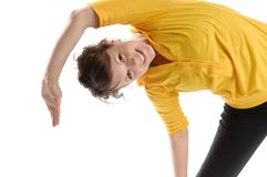 Young woman exercises Royalty Free Stock Photography