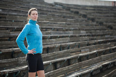 Young woman exercises jogging and running Royalty Free Stock Photography