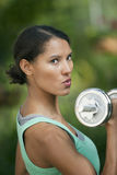 Young Woman Exercising Stock Photography