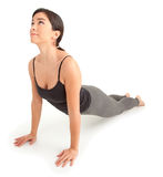 Young Woman Exercising. A young woman is exercising Stock Images