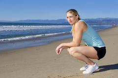 Young woman exercising Stock Image