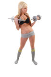 Young woman exercising. Stock Photography