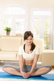 Young woman exercising Royalty Free Stock Photo