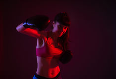 Young woman exercising Royalty Free Stock Images