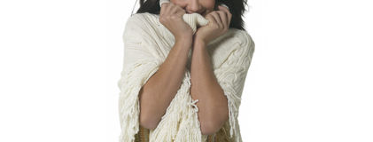 Young woman expressing cold Stock Photography