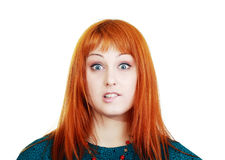 Young woman expressing shock Royalty Free Stock Photo