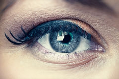 Young woman eye closeup Stock Images