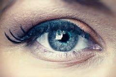 Young woman eye closeup Stock Images