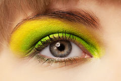 Young woman with eye shadow Stock Image