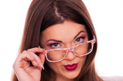 Young woman with eyeglasses Royalty Free Stock Image