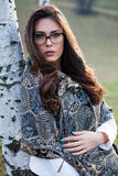Young woman with eyeglasses Royalty Free Stock Photo