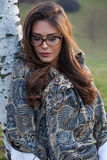 Young woman with eyeglasses Royalty Free Stock Photography