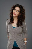 Young woman with eyeglasses Stock Image