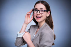 Young woman with eyeglasses Stock Photo
