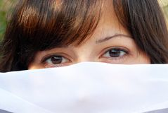 Young woman eyes Stock Images