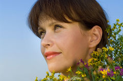 Young woman face Stock Images