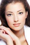 Young woman face stock photos