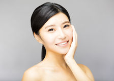 Young  woman face with clean fresh skin Royalty Free Stock Photos