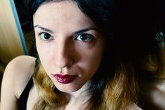 Young Woman Face Close-up. With a bit of makeup Stock Photos