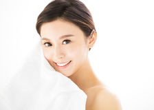 Young woman face with  health skin Stock Image