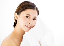 young woman face with  health skin Royalty Free Stock Photos