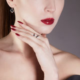 Young Woman face.make up Royalty Free Stock Photo