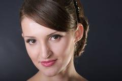 Young woman face portrait Stock Photo