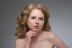 Young woman face portrait Royalty Free Stock Photos
